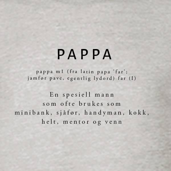 T-shirt Ordbok - Pappa