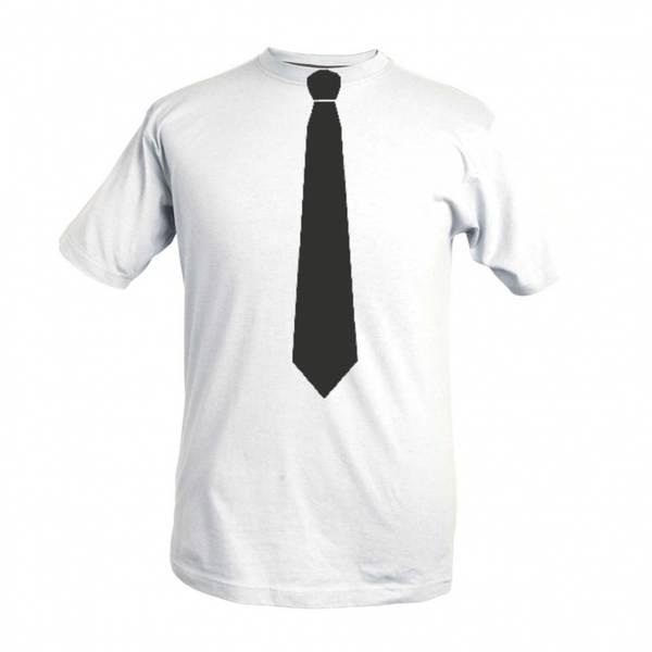 T-shirt med Slips